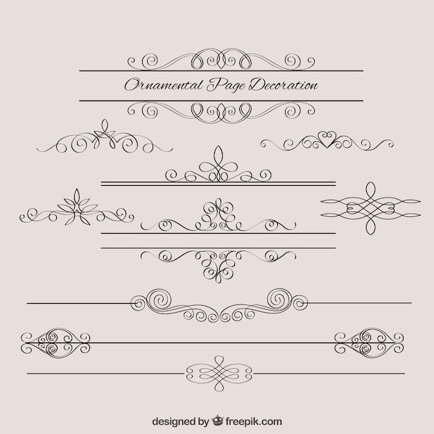 sketches vintage borders decoration vector free download