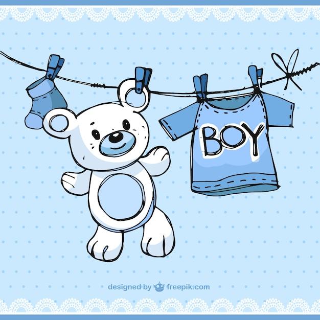 Sketchy Baby Boy Elements Vector Free Download