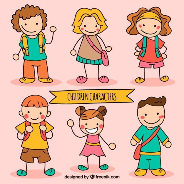 Sketchy children characters pack