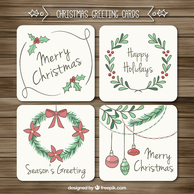 Sketchy christmas greeting cards vector free download sketchy christmas greeting cards free vector m4hsunfo