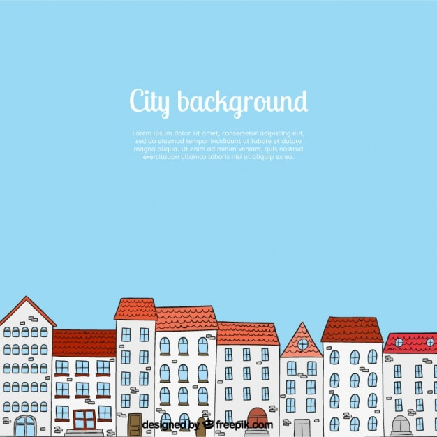 Sketchy city background Free Vector