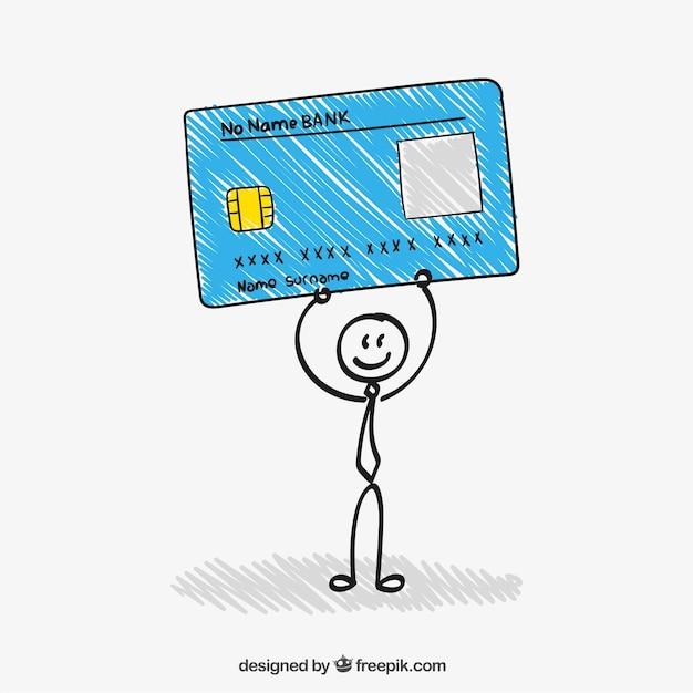 Sketchy credit card Free Vector