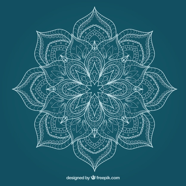 Sketchy Cute Flower Mandala Vector