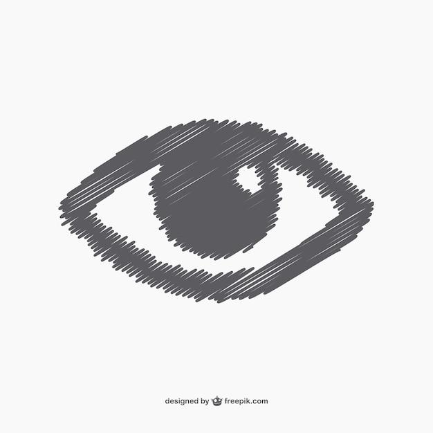Sketchy eye Free Vector