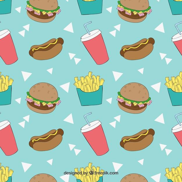 Sketchy fast food pattern