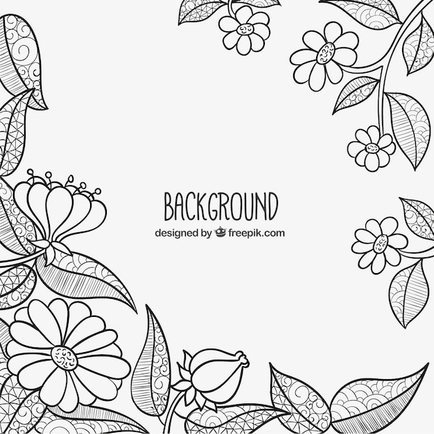 Sketchy flowers background vector free download sketchy flowers background free vector mightylinksfo