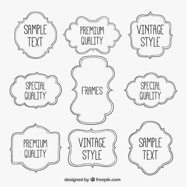 Sketchy Frames Vector Free Download