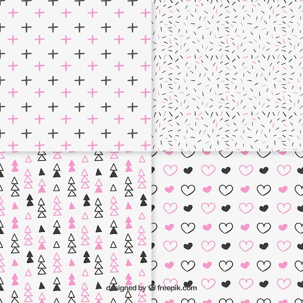 Sketchy patterns collection Free Vector