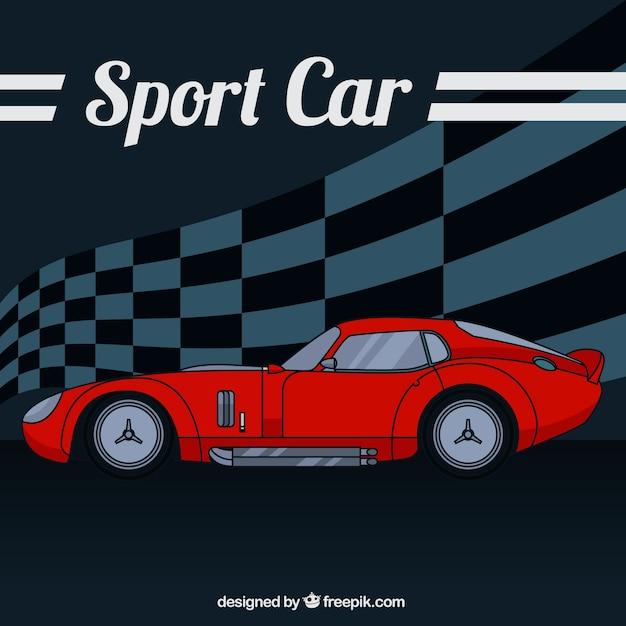 Sketchy sport car