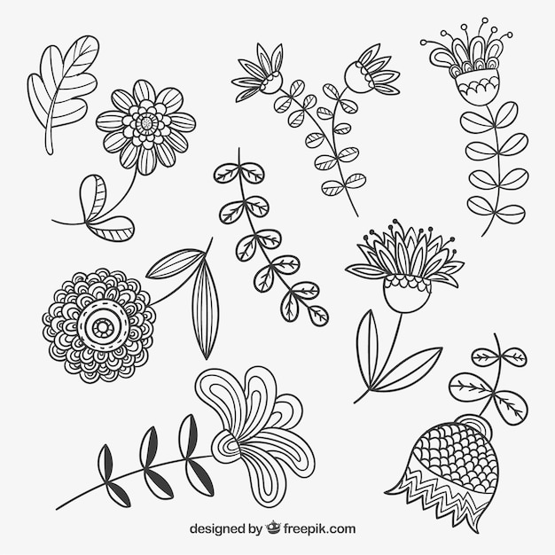 Sketchy spring flowers vector free download sketchy spring flowers free vector mightylinksfo