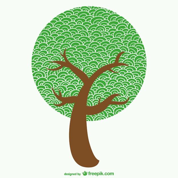 Sketchy tree vector