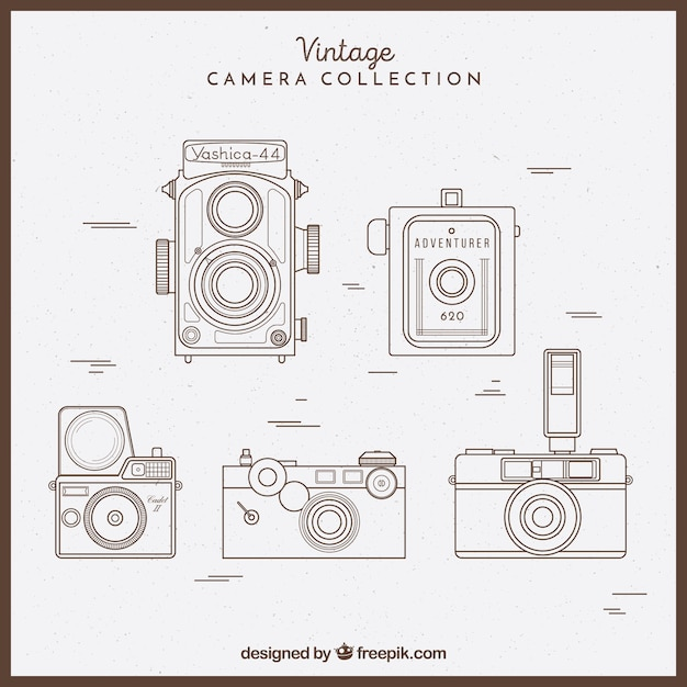Sketchy vintage camera collection