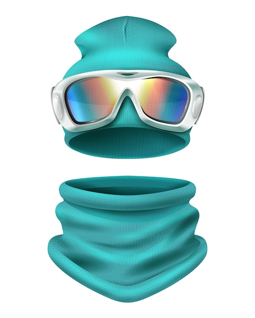 Ski suit illustration Free Vector