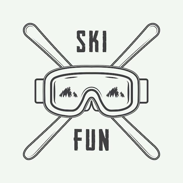 Ski or winter sports logo Premium Vector