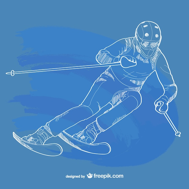 Skiing outline