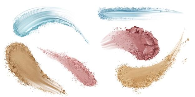 Skin foundation smear brush strokes Free Vector