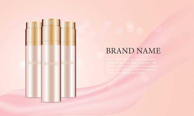 Skincare spray bottle ads Premium Vector