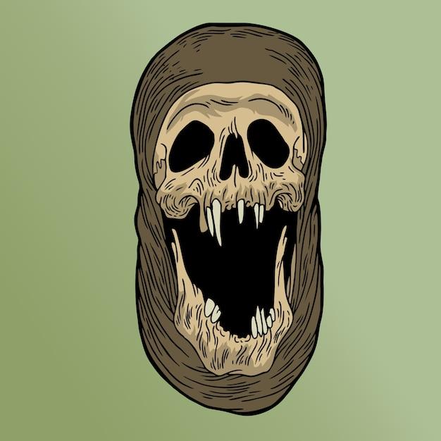 Skrim skull Premium Vector