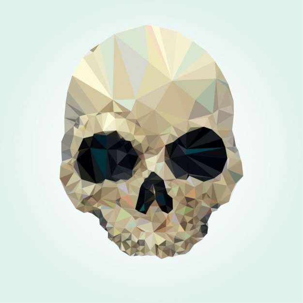 Skull design made of polygons Free Vector