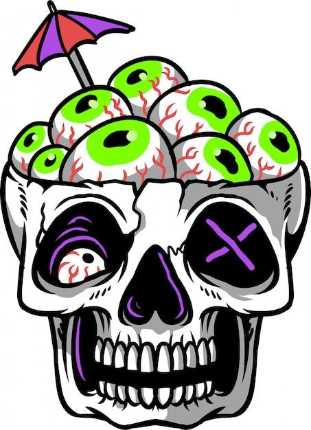 Skull eye Premium Vector