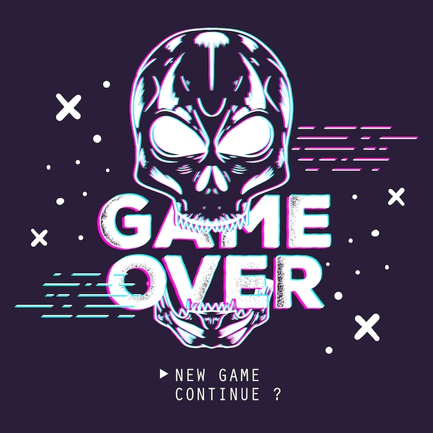 View Game Over Logo Background