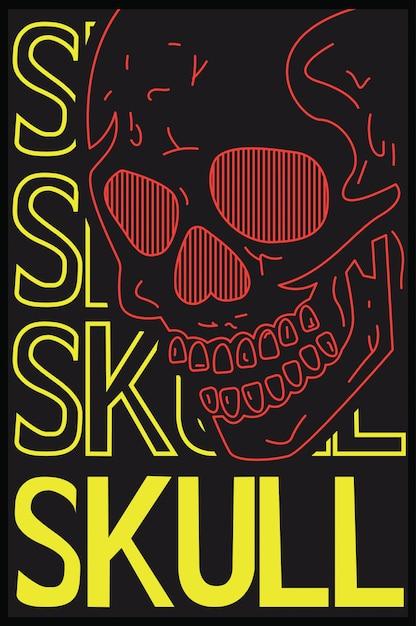 Skull graphic for tshirt Premium Vector