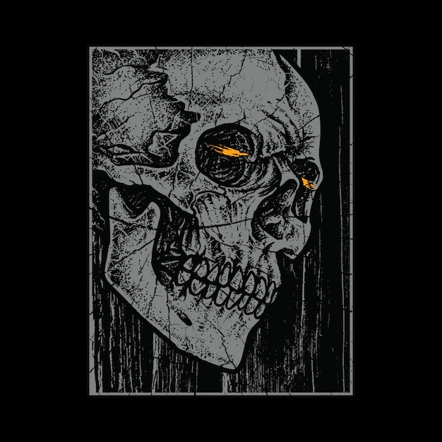 Skull horror  illustration Premium Vector