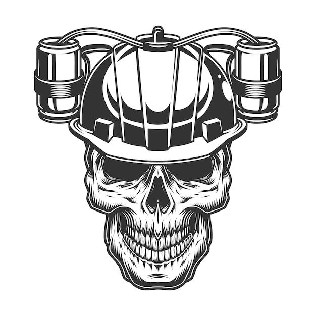 맥주 헬멧에 해골 무료 벡터