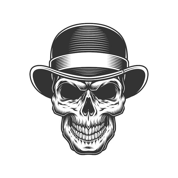 중산 모자에 두개골 무료 벡터