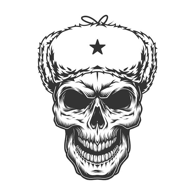 ウシャンカの帽子の頭蓋骨 無料ベクター
