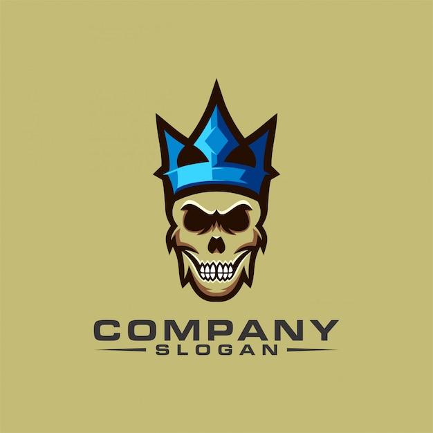 Skull logo design Premium Vector
