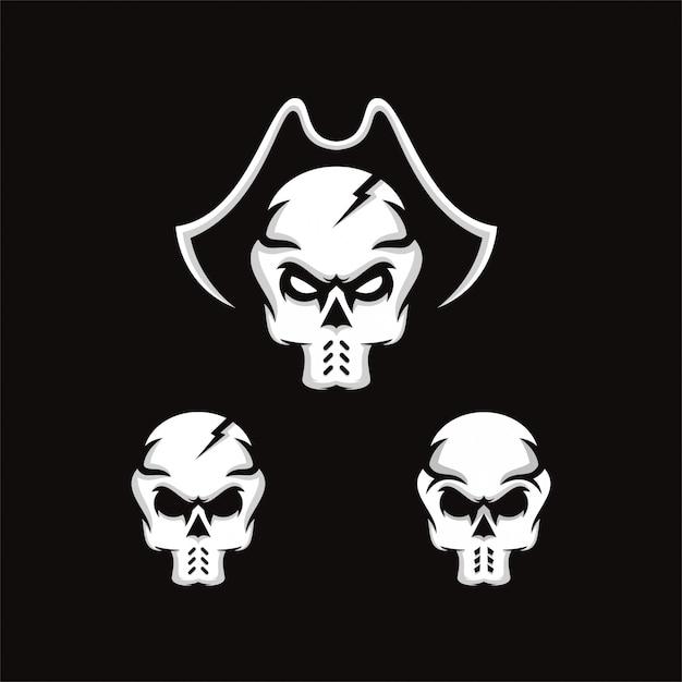 Skull logo Premium Vector
