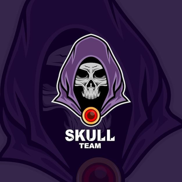 Логотип талисмана черепа Premium векторы
