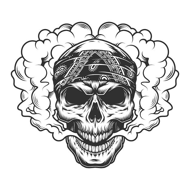 Cranio vaper concept Vettore gratuito