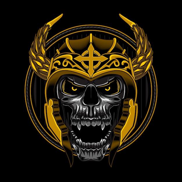 Skull viking angry vector illustration Premium Vector