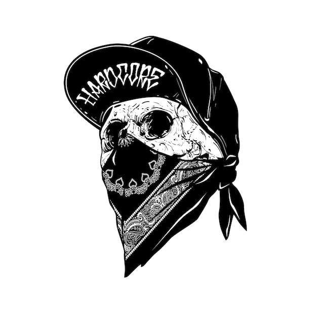 Skull with cabp Vector | Premium Download