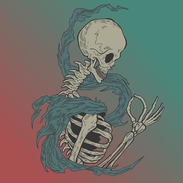The skull. Premium Vector