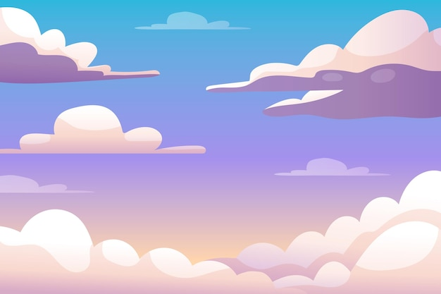 Sky background concept Free Vector