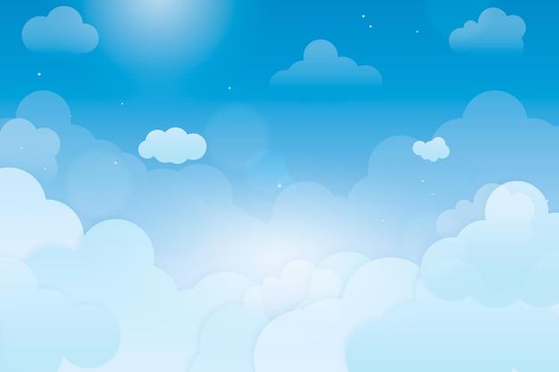 Disegno di sfondo del cielo Vettore gratuito