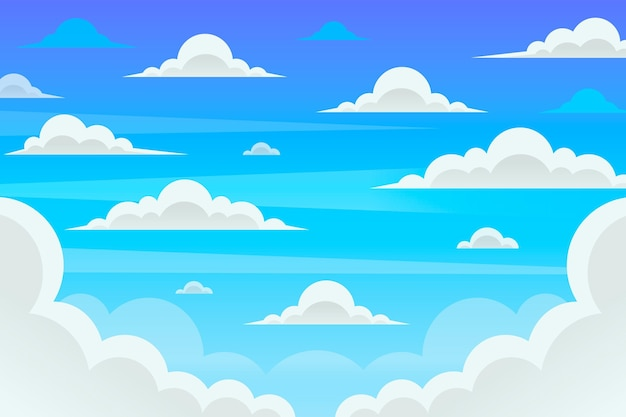Sky - фон для видеоконференций Бесплатные векторы