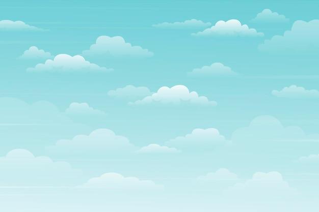 Фон неба для видеоконференцсвязи Бесплатные векторы