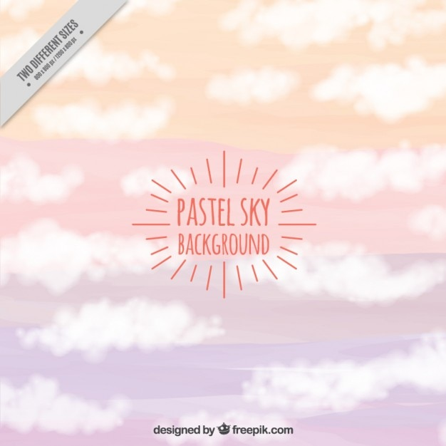 Sky background in pastel colors