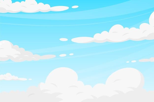 空の背景テーマ Premiumベクター