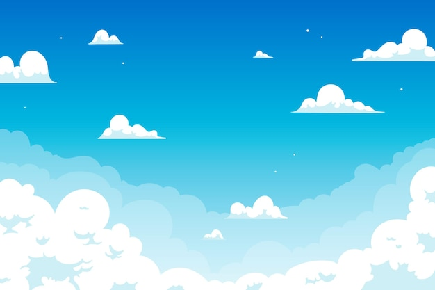 Sky background for video conference design Premium Vector