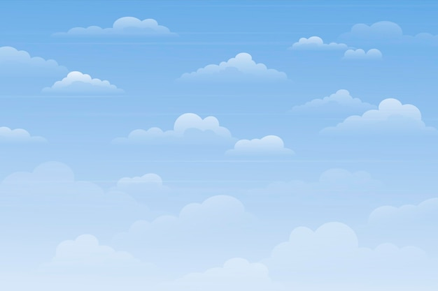 Sky background for video conferencing theme Premium Vector