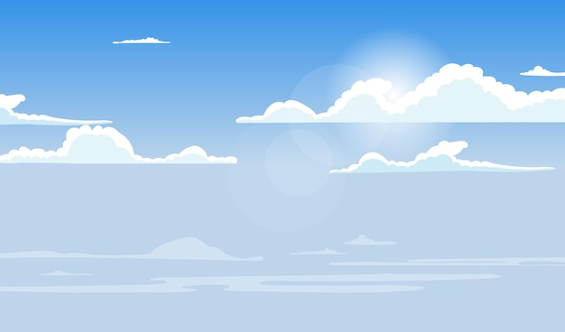 Sky - background for video conferencing Premium Vector