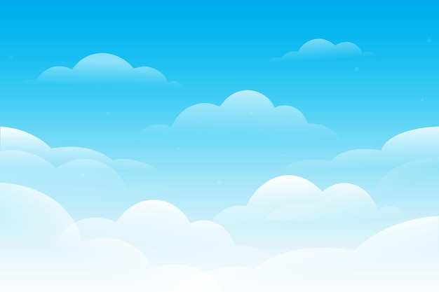 Sky background for video conferencing Premium Vector