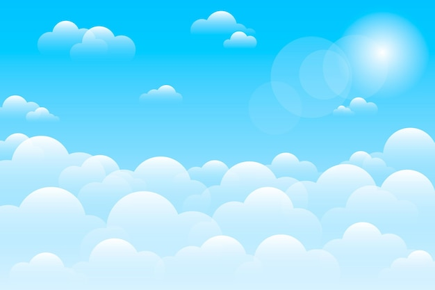 Sky background for video conferencing Free Vector