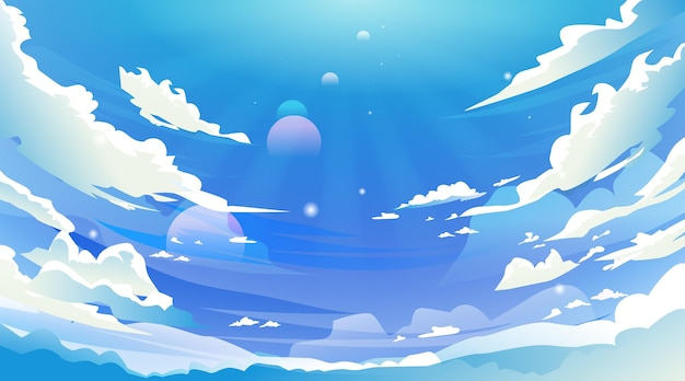 Sky - background for video conferencing Free Vector