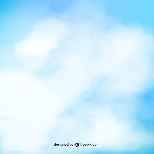 Sky blue watercolor Free Vector
